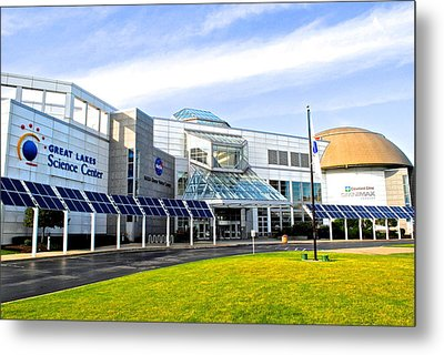 Great Lakes Science Center Metal Print by Frozen in Time Fine Art Photography