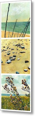 Great Lakes Triptych 2 Metal Print by Michelle Calkins