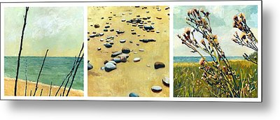 Great Lakes Triptych Metal Print by Michelle Calkins