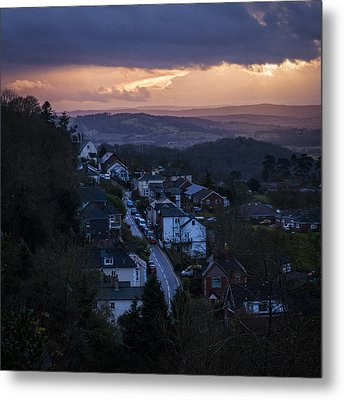 Metal Print featuring the photograph Great Malvern Sunset by David Isaacson