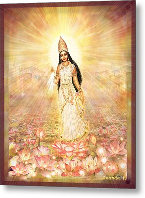 Great Mother Goddess In A Higher Dimension Metal Print by Ananda Vdovic