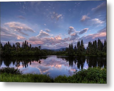 Great North Woods Sunset In New Hampshire Metal Print