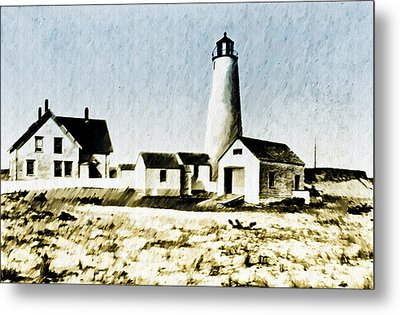 Great Point Lighthouse Nantucket Metal Print by Bill Cannon