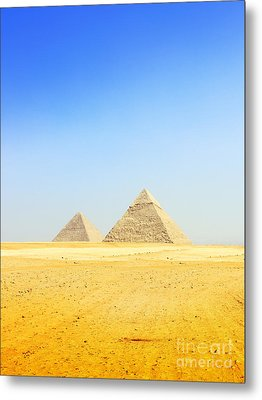 Great Pyramid Of Giza Metal Print by Mohamed Elkhamisy