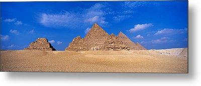 Great Pyramids, Giza, Egypt Metal Print by Panoramic Images
