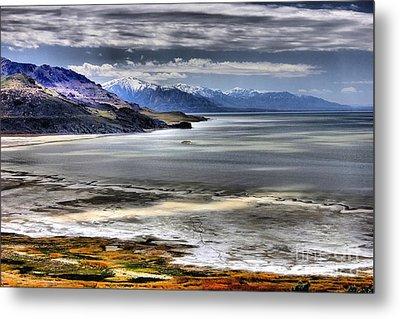 Great Salt Lake From Antelope Island Metal Print
