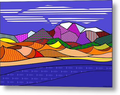 Metal Print featuring the digital art Great Sand Dunes by Randall Henrie