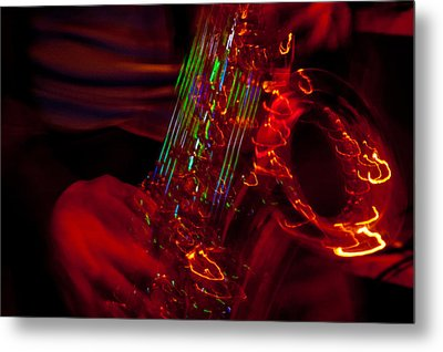 Metal Print featuring the photograph Great Sax by Alex Lapidus