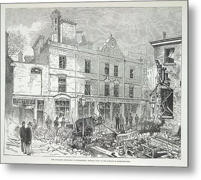 Great Scotland Yard Explosion Metal Print by British Library