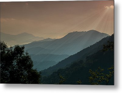 Metal Print featuring the photograph Great Smoky Mountains Blue Ridge Parkway by Patti Deters
