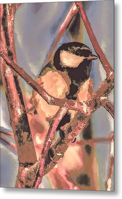 Great Tit  A  Leif Sohlman Metal Print by Leif Sohlman