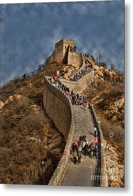 Metal Print featuring the photograph Great Wall O China by Shirley Mangini