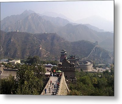 Great Wall Of China At Badaling Metal Print by Debbie Oppermann