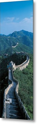 Great Wall Of China Beijing China Metal Print by Panoramic Images