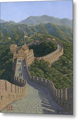 Great Wall Of China Mutianyu Section Metal Print by Richard Harpum