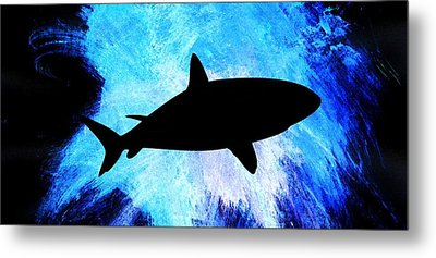 Metal Print featuring the painting Great White by Aaron Berg