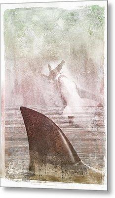 Metal Print featuring the digital art Great White Attack by Davina Washington