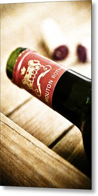 Great Wines Of Bordeaux - Chateau Mouton Rothschild Metal Print by Frank Tschakert