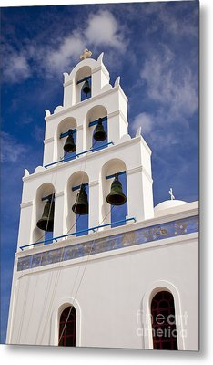 Greek Church Bells Metal Print by Brian Jannsen