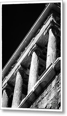 Greek Columns Metal Print