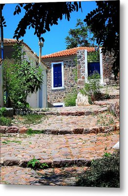 Metal Print featuring the photograph Greek Country House by Andreas Thust