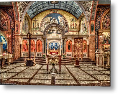 Greek Orthodox Cathedral Of Saint Paul Metal Print by Linda Karlin