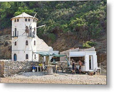 Greek Windmill Metal Print by Tom Gowanlock