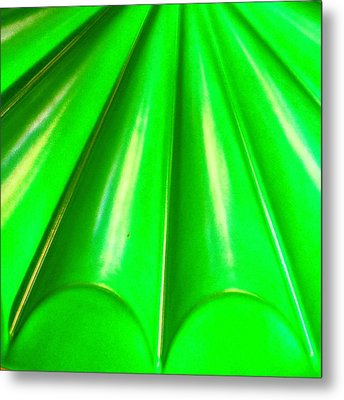 Green Abstract Metal Print by Christy Beckwith