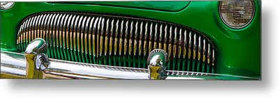 Metal Print featuring the photograph Green And Chrome Teeth by Mick Flynn