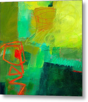 Green And Red #1 Metal Print by Jane Davies