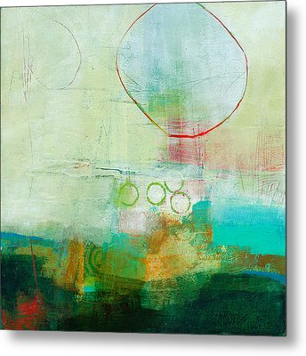 Green And Red 6 Metal Print by Jane Davies
