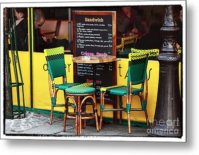 Green And Yellow In Paris Metal Print by John Rizzuto