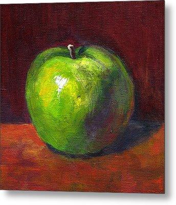 Green Apple Metal Print by Maxim Komissarchik