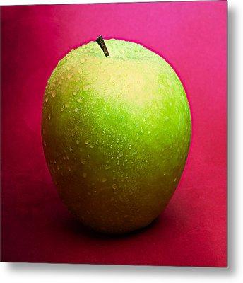 Green Apple Whole 2 Metal Print