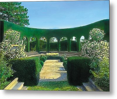 Green Arches Metal Print by Terry Reynoldson