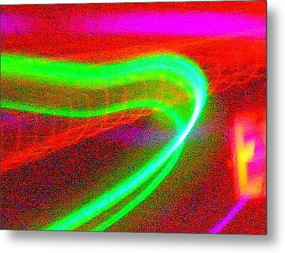 Green Band Metal Print by James Welch
