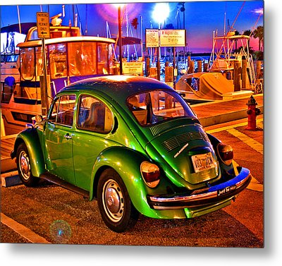 Metal Print featuring the photograph Green Beetle by Christopher McKenzie