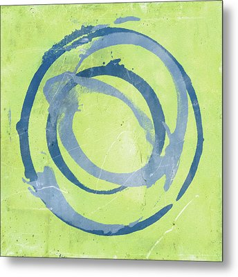 Green Blue Metal Print by Julie Niemela
