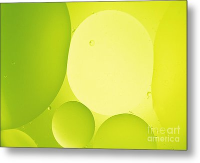 Green Bubbles Metal Print by Angela Bruno