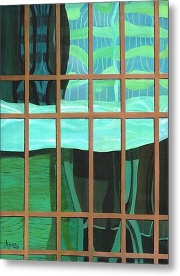 Green Central Metal Print