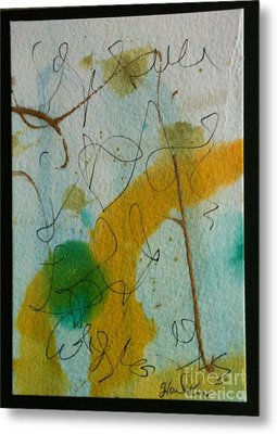 Green Circle Abstract Metal Print by Gloria Cooper