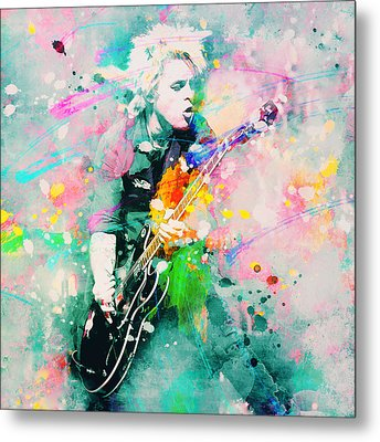 Green Day  Metal Print by Rosalina Atanasova