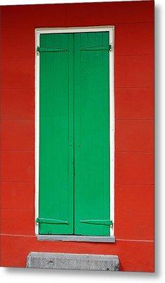 Green Door In New Orleans Metal Print