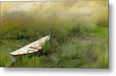Metal Print featuring the photograph Green Dory by Karen Lynch