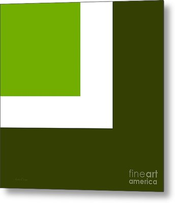 Green Eggs And Ham Square Metal Print