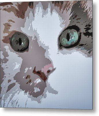 Green Eyes Metal Print by Patricia Januszkiewicz