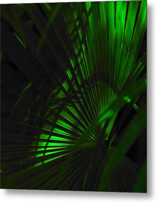 Green Fan Metal Print by Silke Brubaker