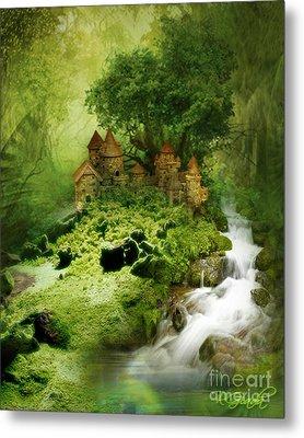 Metal Print featuring the digital art Green - Fantasy Art By Giada Rossi  by Giada Rossi