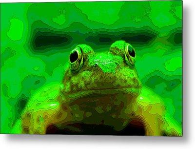Green Frog Poster Metal Print by Dan Sproul