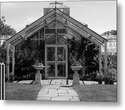 Green House Metal Print by Roseann Errigo
